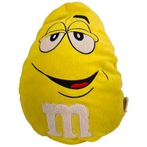 M&Ms Yellow Emoji Face Plush Pillow